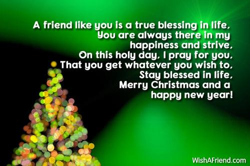 10064 christmas messages for friendsjpg - Christmas Blessing Prayer